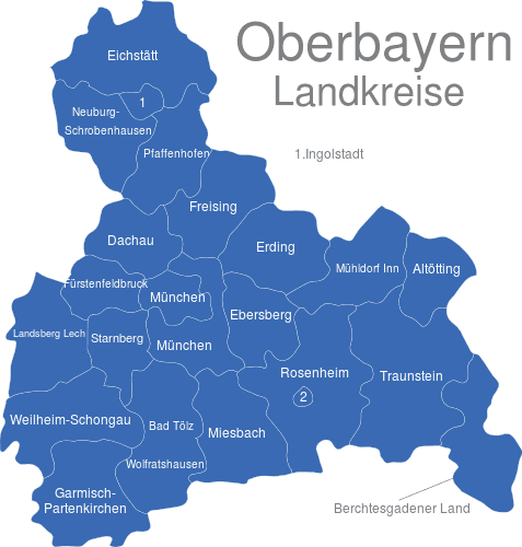 Oberbayern Landkreise
