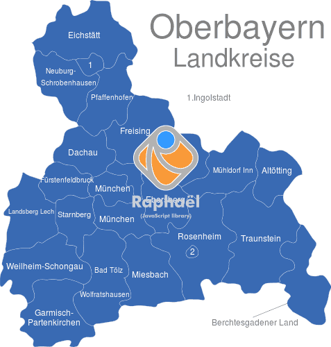 Landkreise Mittelfranken Karte.Oberbayern Landkreise
