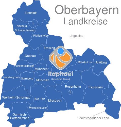 Karte Oberbayern Landkreise.Oberbayern Landkreise