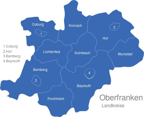 Oberfranken Landkreise