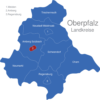 Map Oberpfalz Landkreise Amberg_1_