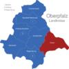 Map Oberpfalz Landkreise Cham