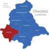 Map Oberpfalz Landkreise Neumarkt