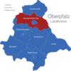 Map Oberpfalz Landkreise Neustadt_Waldnaab