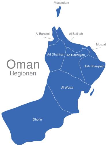 Oman Provinzen