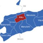 Map Osttimor Timor Leste Bezirke Aileu