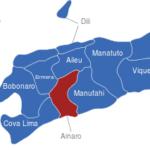 Map Osttimor Timor Leste Bezirke Ainaro