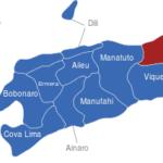 Map Osttimor Timor Leste Bezirke Baucau