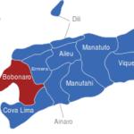 Map Osttimor Timor Leste Bezirke Bobonaro