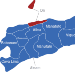 Map Osttimor Timor Leste Bezirke Dili