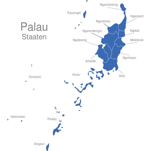 Palau Staaten   Inseln
