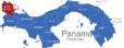 Map Panama Provinzen Bocas_del_Toro