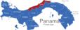 Map Panama Provinzen Colon_1_