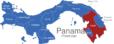 Map Panama Provinzen Darien_1_