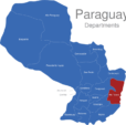 Map Paraguay Departments Alto_Parana_1_