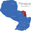 Map Paraguay Departments Amambay