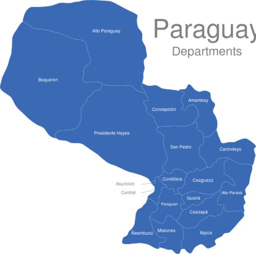 Paraguay Departments