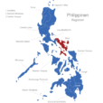 Map Philippinen Regionen Bicol