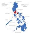 Map Philippinen Regionen CALABARZON