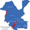 Map Potsdam Stadtbezirke Gewasser