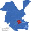 Map Potsdam Stadtbezirke Innenstadt