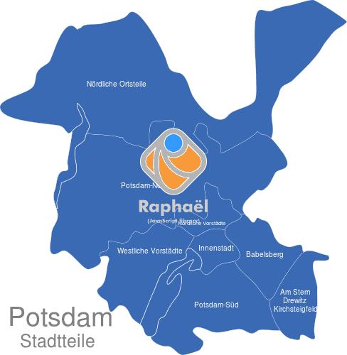 Potsdam Karte Stadtteile.Potsdam Stadtbezirke