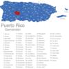 Map Puerto Rico Gemeinden Adjuntas