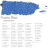 Map Puerto Rico Gemeinden Aguada