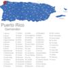 Map Puerto Rico Gemeinden Aguadilla