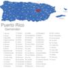 Map Puerto Rico Gemeinden Aguas_Buenas