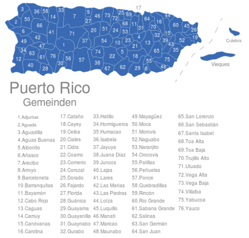 Puerto Rico Gemeinden