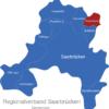 Map Regionalverband Saarbrücken Friedrichsthal