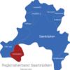 Map Regionalverband Saarbrücken Großrosseln