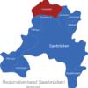 Map Regionalverband Saarbrücken Hausweiler