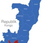 Map Republik Kongo Provinzen Bouenza