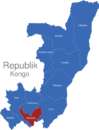 Map Republik Kongo Provinzen Bouenza