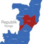 Map Republik Kongo Provinzen Cuvette