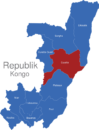 Map Republik Kongo Provinzen Cuvette