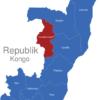 Map Republik Kongo Provinzen Cuvette-Ouest