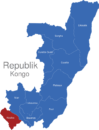 Map Republik Kongo Provinzen Kouilou
