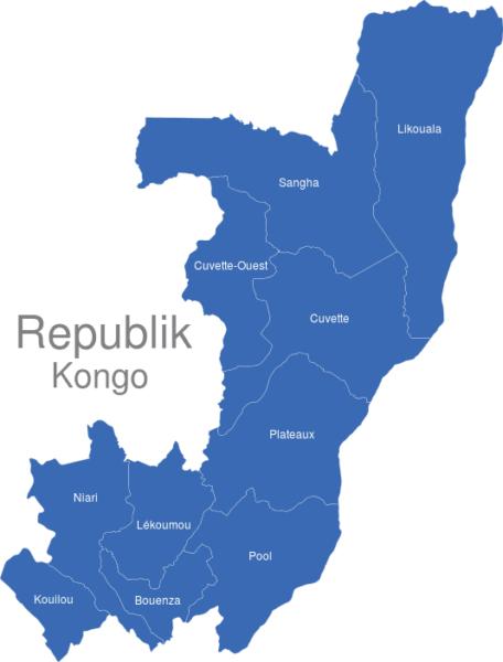 Republik Kongo Provinzen
