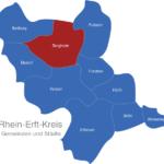 Map Rhein Erft Kreis Bergheim
