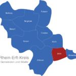 Map Rhein Erft Kreis Brühl
