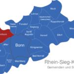 Map Rhein Sieg Kreis Bornheim