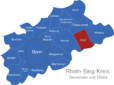 Map Rhein Sieg Kreis Eitorf
