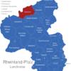 Map Rheinland Pfalz Landkreise Ahrweiler