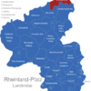 Map Rheinland Pfalz Landkreise Altenkirchen