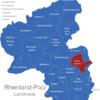 Map Rheinland Pfalz Landkreise Alzey_Worms
