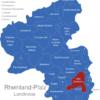 Map Rheinland Pfalz Landkreise Bad_Durkheim