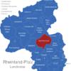 Map Rheinland Pfalz Landkreise Bad_Kreuznach